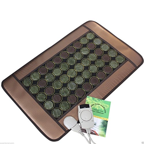 HealthyLine Natural Jade & Tourmaline Mat Negative Ions Heat & Energy Therapy (Jade Waterfall)
