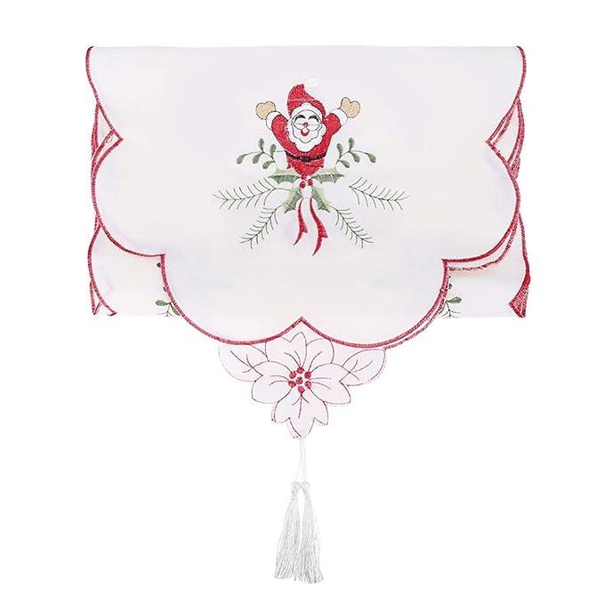 Motivo Fiocco di Neve 35 x 200 cm in Poliestere Decorazione Natalizia da Tavolo Fablcrew tovaglia Rettangolare Runner da Tavolo Natalizio