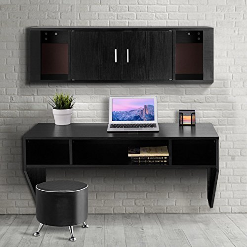 Giantex Wall Mounted Floating Desk Computer Table & Desk