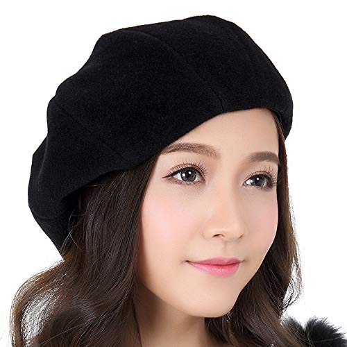 Mujer Francesa Otoño 100 Elegante Boina Lana Negro Sombrero Yhjklm L De Albaricoque color Invierno Para Tamaño xwHqzpX0I