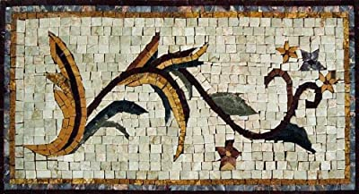 """20x12"""" Floral Inserts Mosaic Marble Stone Art Tiles Wall Floor"""