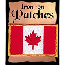 """Canada's Canadian Flag PATCH, Superior Quality Iron-On / Saw-On Embroidered Patch - Each one is individually carded and sealed in a professional retail package - 3.5"""" x 2.25"""" Inches - Made in the USA"""