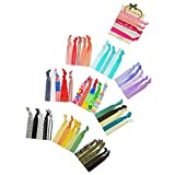ColorBeBe - No-Crease, Soft and Stretchy Hair Ties - 50pcs Print and Solid