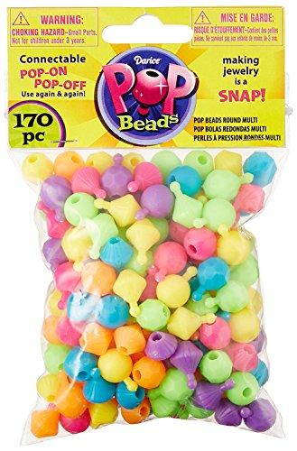 Pop Beads 170/Pkg-Rounder Multicolor (3-Pack)