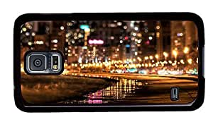 Hipster Samsung Galaxy S5 Case luxury cover nyc city lights PC Black for Samsung S5