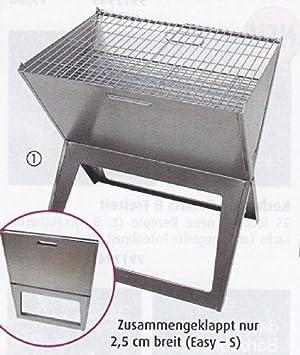 Stabielo – plegable Easy de Small – Acero inoxidable mesa de carbón de barbacoa – Distribución
