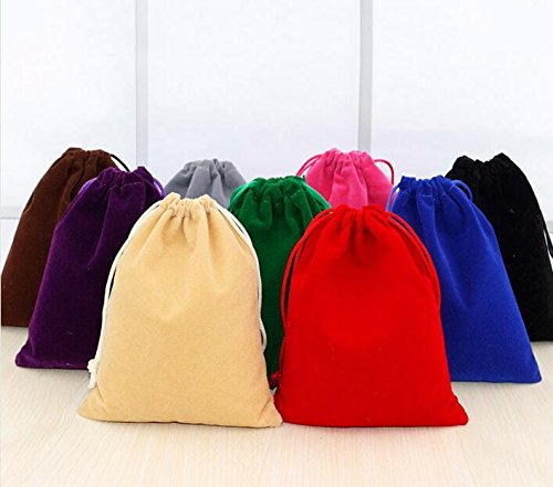 3PCS Red 10X30CM//3.93x11.8 Cloth Bag Storage Drawstring Folding Bags Pocket Burlap For Sample Jewelry Gift Packaging Sacks Party Mobile phone Sport Home Electronic