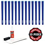 Iomic Sticky 1.8 Grip Kit with Tape, Solvent and Vise Clamp (13-Piece), Blue Ribbed