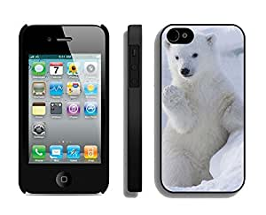 Cool Iphone 4s Black Case Cute Polar Bear Soft Silicone Funny Iphone 4 Protective Cover
