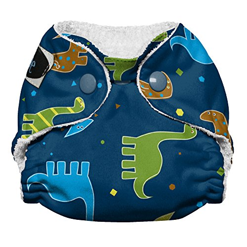 Imagine Baby Products Newborn Stay Dry All-In-One Snap Cloth Diaper, Rawr