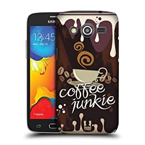 Head Case Designs Coffee Junkie Coffee Addict Protective Snap-on Hard Back Case Cover for Samsung Galaxy Avant LTE G386T by icecream design