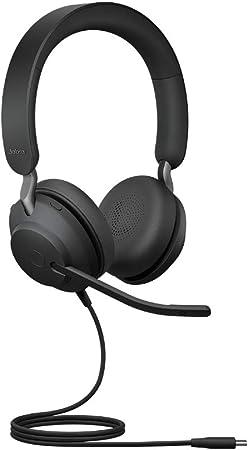Jabra Evolve2 40 Headset Noise Cancelling Headphones Elektronik