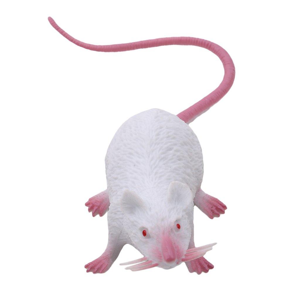 Lnlyin Plastique Rats Mouse Mod/èle Figurines Enfants Halloween Tricks Farces Props Jouet Blanc Small PVC