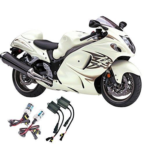 Sixty61 Suzuki motorcycle GSXR 1300 Hayabusa 2008-2018 Xenon HID headlight conversion bulbs kit (8000K - Iceberg Blue)