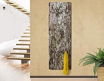 Wandgarderobe Modern apalis 73465 wandgarderobe nummer yk17 baumrinde design garderobe