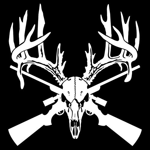 856store Clearance Sale Deer Hunting Buck Head Rifle Gun Decal Self-Adhesive Car Sticker Decoration