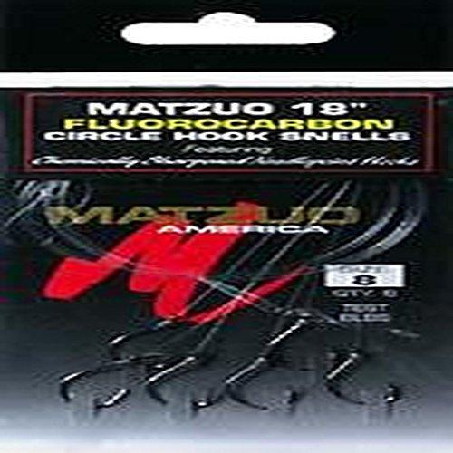 Matzuo Fluorocarbon Circle Snell Hook, 8 - Hook Fluorocarbon