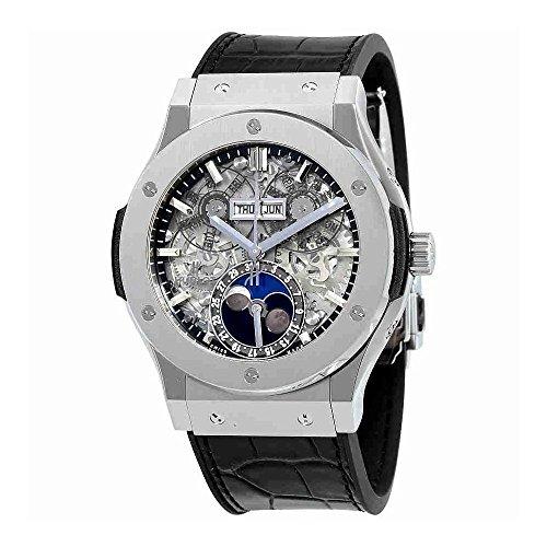 Hublot Classic Fusion Aerofusion Moonphase Sapphire Dial Titanium Mens Watch 517.NX.0170.LR