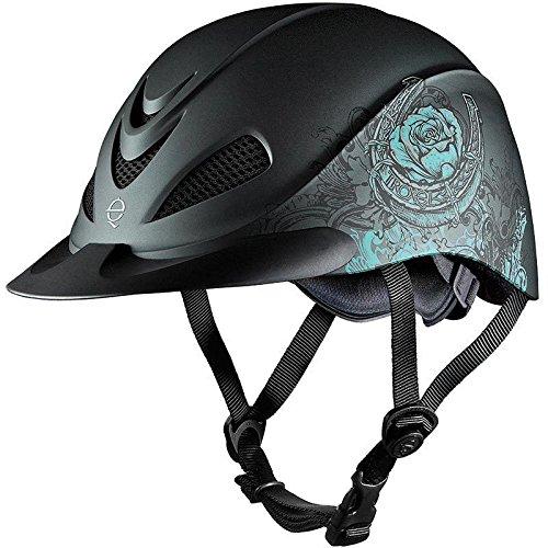Troxel Rebel Helmet, Turquoise Rose, (Horse Helmet)