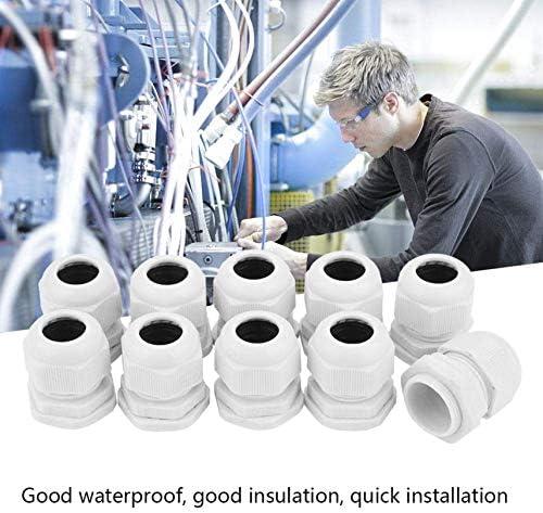 10 conectores de cable de nailon impermeable PG7-PG21 IP68 PG21 Zeen