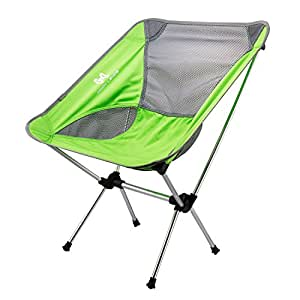 Moon Lence Ultralight Portable Folding Camping Backpacking Chairs with Carry Bag (cyan)