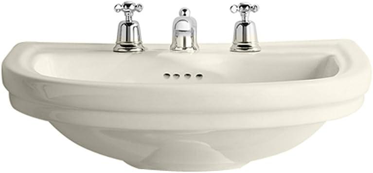 Porcher 20368 00 071 Calla Countertop Self Rimming Bathroom Sink
