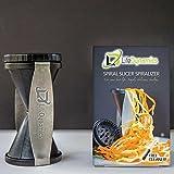 Life Dynamics Spiral Slicer, Zucchini Pasta Maker, Vegetable Slicer, HandHeld Black