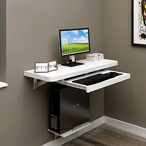 ZR-Tavolo da Parete Computer da Tavolo da Parete PC Scrivania per Computer Portatile per casa Ufficio Bambini, Bambini, Bianco -Salva Lo Spazio (Dimensioni : 120cm)