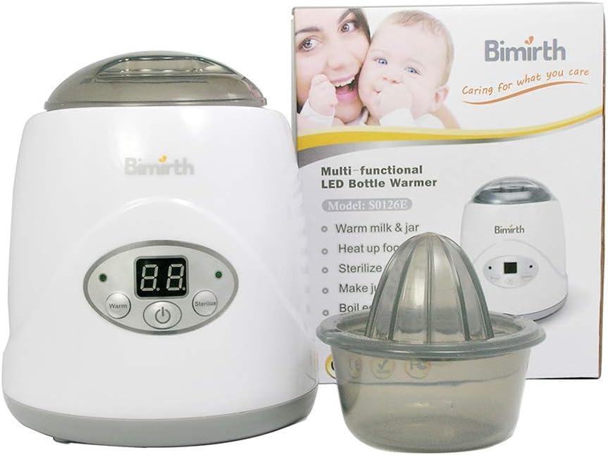 Esterilizador para biberones nuevo seguro sin BPA multifunci/ón LED de leche de mantequilla calentador de biberones electr/ónico calentador de biberones de pecho esterilizador de alta calidad