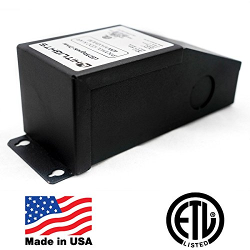 HitLights 40 Watt Dimmable Driver, Magnetic, for LED Light Strips - 110V AC-12V DC Transformer. Made in the USA. Compatible with Lutron and Leviton
