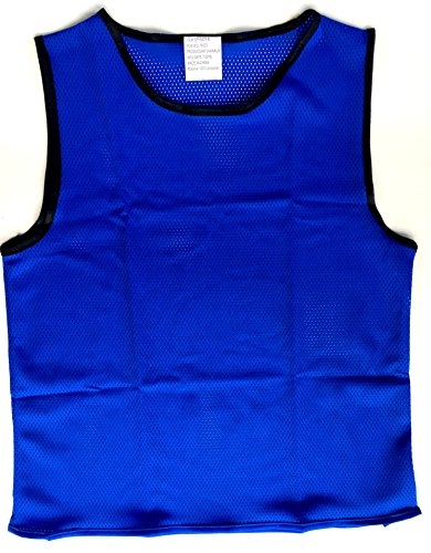 Youth Scrimmage Vests, Youth Team Practice Pinnies, Youth Scrimmage Jerseys, Youth Scrimmage Training Vests For All Sports, by Playscene (12 Pack) (YOUTH, NEON - Pinnies Scrimmage Vests Vests