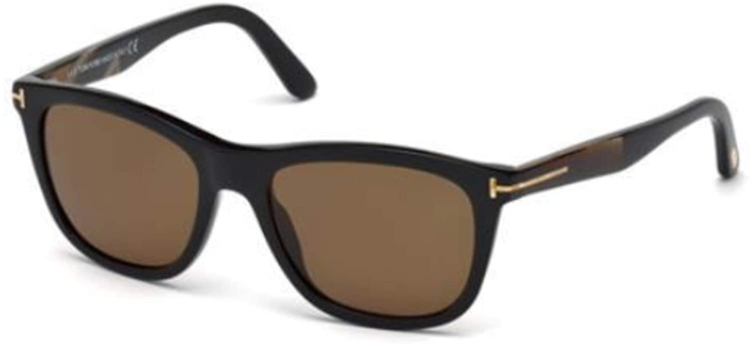 ee779680fbe Tom Ford FT0500-F Sunglasses 54 01H Shiny Black Brown Polarized at Amazon  Men s Clothing store