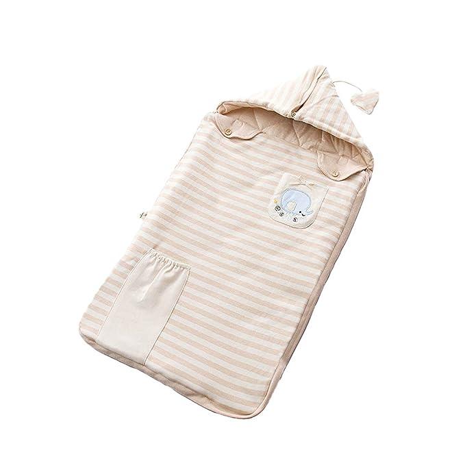 Zhhlaixing Bebé 12-18 Meses Acolchado Dormir Saco Algodón Usable Manta Niño pequeño - Niños Sueño Bolso Anti Choque Cremallera Elefante Bordado: Amazon.es: ...