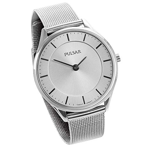 Pulsar Ladies White Mesh Watch - Color White (Pulsar Mesh Watch)
