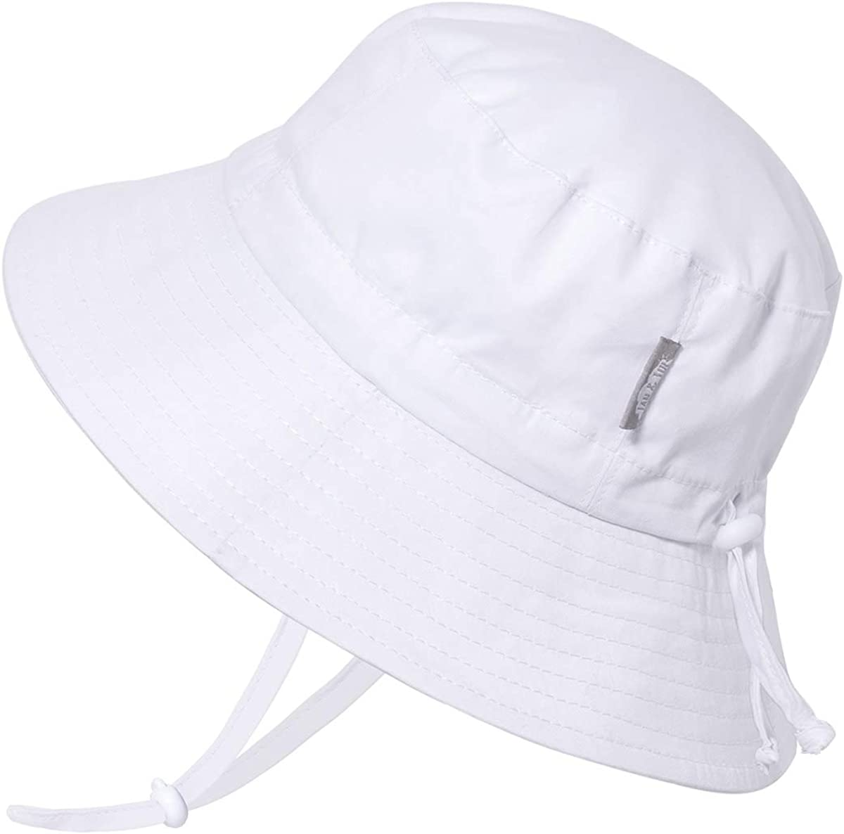 Jan /& Jul Baby Toddler Kids Breathable Cotton Bucket Sun-Hat 50 UPF Stay-on Adjustable for Growth