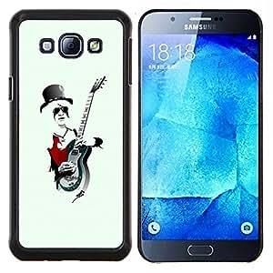 "Be-Star Único Patrón Plástico Duro Fundas Cover Cubre Hard Case Cover Para Samsung Galaxy A8 / SM-A800 ( Enfriar la roca Guitarrista"" )"
