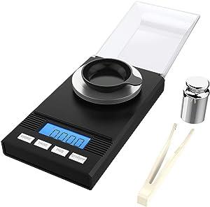 Mini balance de précision, balance de cuisine 0,001g / 50g, Balance de Poche avec Écran LCD et petite balance de bijoux avec fonction de tarep, eut s'arrêter automatiquement