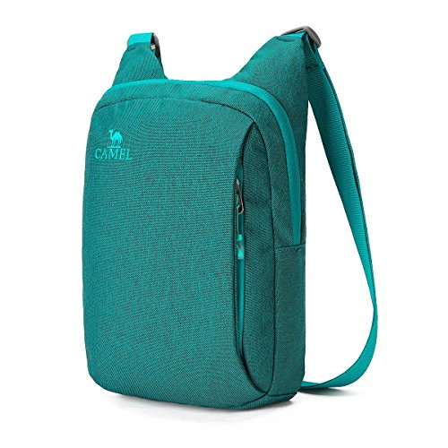 nti-Theft Crossbody Bag Lightweight Mens Women Shoulder bag (Cobalt Green) ()