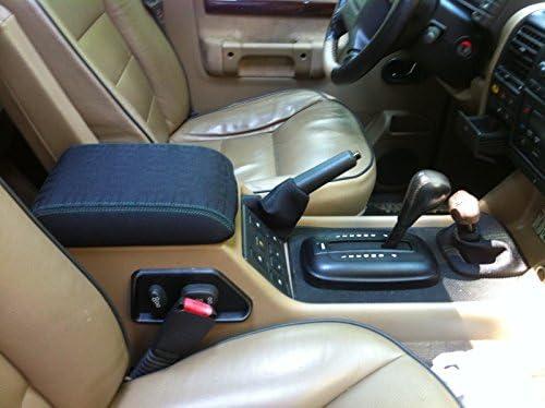 RedlineGoods Cubierta de apoyabrazos Compatible con Land Rover Discovery 1999-04 Cuero Sierra Costura Negra