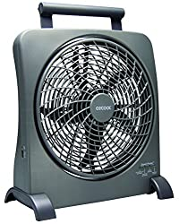 O2COOL 10-Inch Portable Smart Power Fan with AC Adapter...