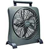 O2COOL 10-Inch Portable Smart Power Fan with AC Adapter & USB Charging Port