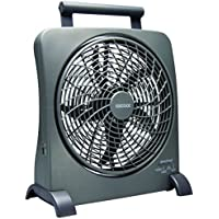 O2COOL 10 Portable Fan with Smart Power AC Adapter & USB Charging Port