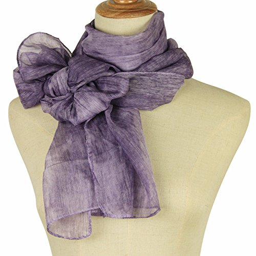 Mother's day gift Long Chiffon Sheer Scarf For womens - PANTONIGHT FL001 2018 New Design for All Seasons Shaded Color Lightweight Extra Long Shawl75x37 - Scarf Womens New