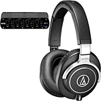 Audio-Technica & AKG Headphone Pack with ATH-M70x Monitoring Headphones and AKG HP4E 4-Channel Headphone Amplifier