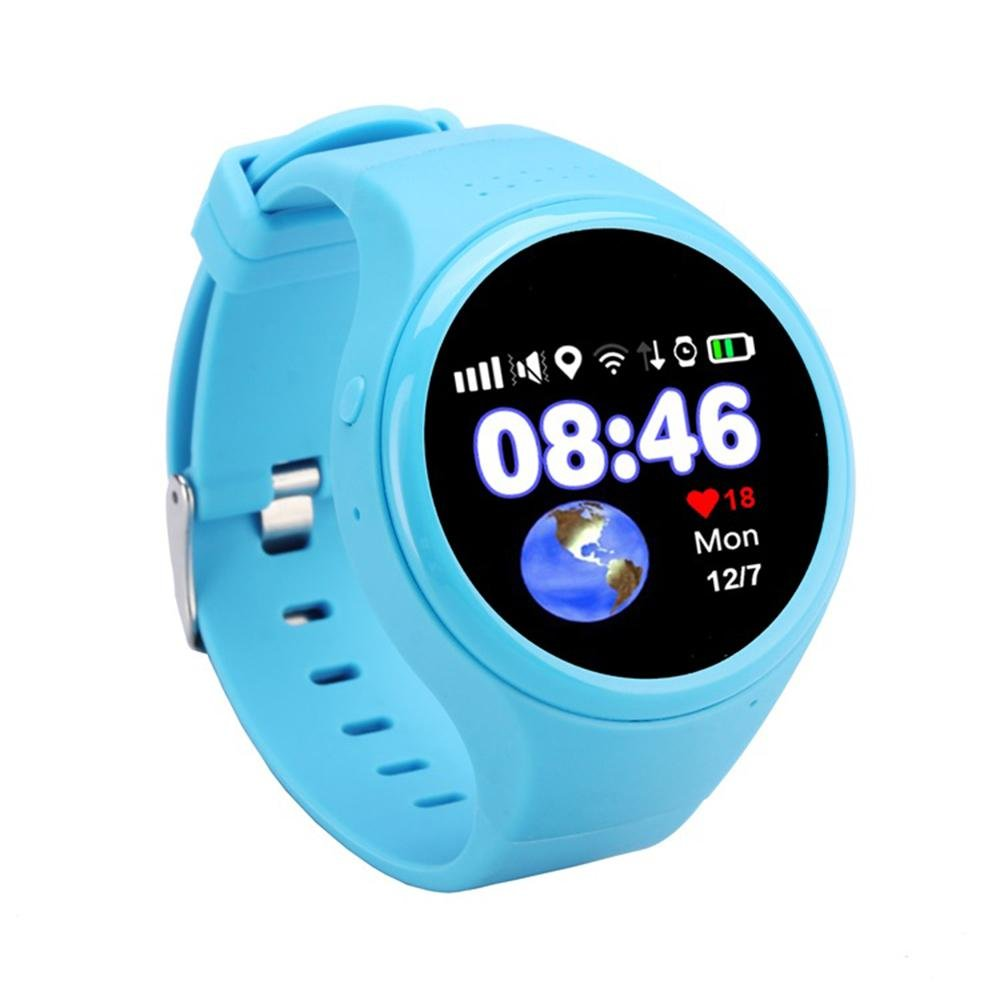 Kobwa Children Smart Watch Kids GPS Tracker Anti-lost Wrist Watch with Parent Control,Remote Monitor,SOS Call Alarm,Location Finder,Pedometer Functions for IPhone and Android Smartphones (Blue)