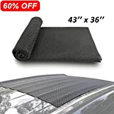 Car Roof Mat Cargo Pad Protective Mat Rack Pad (43''x36'') Cushioned Layer Non-slip Heavy Duty Elastic Soft for Car SUV Truck Carrying Cargo Bags Bikes Paddle by Depp's
