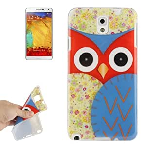 Cartoon Owl Pattern TPU Protective Case for Samsung Galaxy Note III / N9000