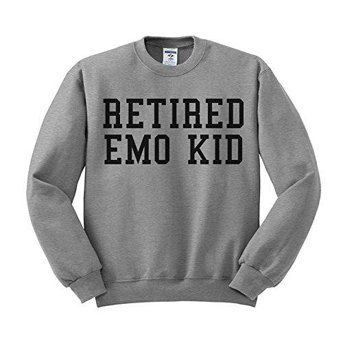 Retired Emo Kid Funny Pop Culture Sweatshirt Unisex Small Grey