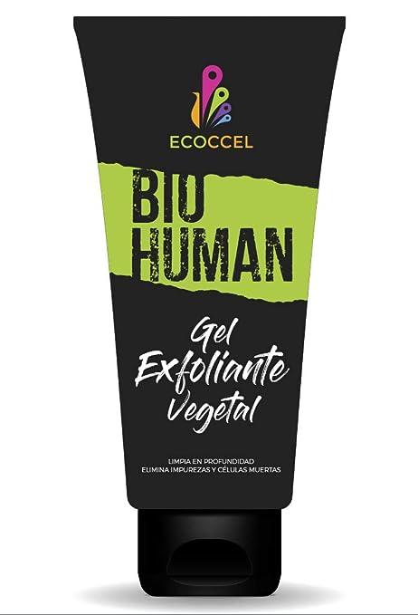 Gel Exfoliante facial y corporal con ingredientes biológicos hidratantes. Peeling natural que estimula la renovación