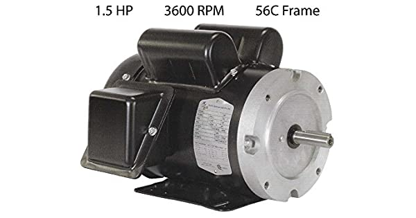 1-1//2HP 3600RPM 56CFR 1PH TEFC North American Electric Motor F56C1.5S2C